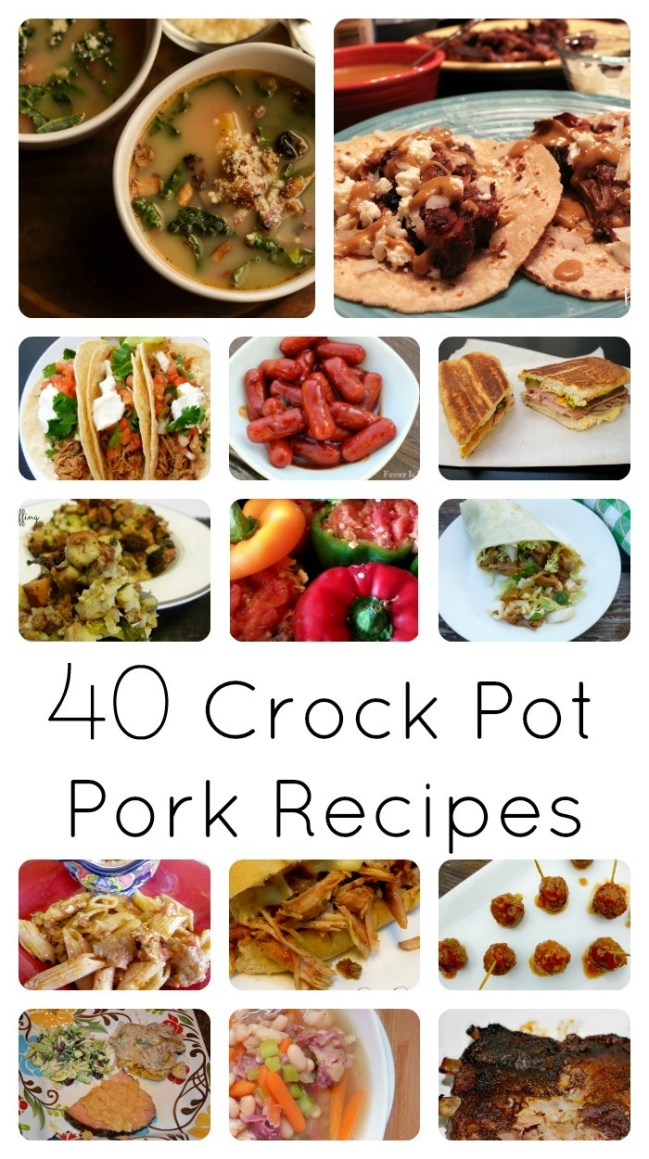 More than 40 Crockpot pork recipes that are easy to prepare and loved by kids and adults alike! These easy pork recipes are tested and approved by multiple families and children!
