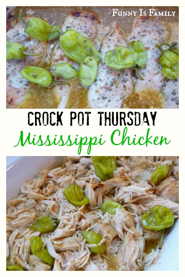 This Crockpot Mississippi Chicken recipe is a quick and easy dinner idea that has incredible flavor! Whatever you do, don't skip the pepperoncini!