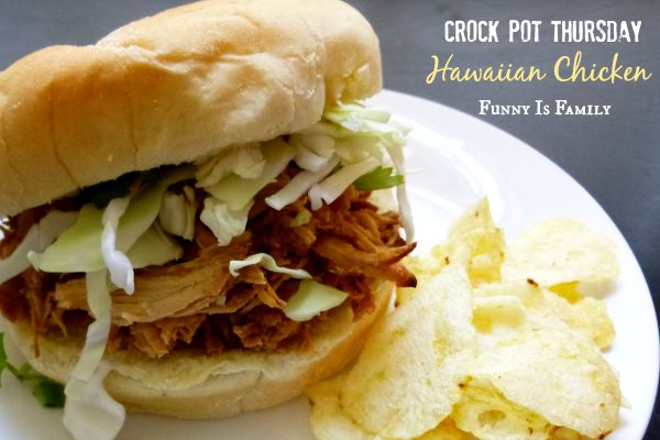 This Crockpot Hawaiian Chicken is a tasty mix of pineapple, BBQ sauce, soy sauce, and garlic, that can be served over rice or on buns! Try this quick and easy dinner idea soon!