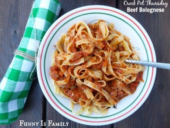 This Crockpot Beef Bolognese will make your house smell amazing, and you will love the way it looks on your table. Let your slow cooker do the work in preparing this simple and delicious family-friendly dinner idea!
