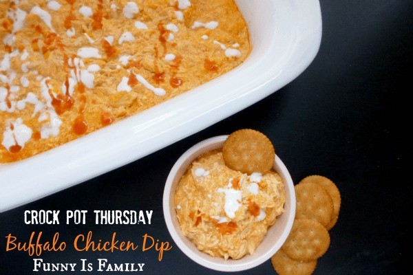 This Crockpot Buffalo Chicken Dip is the perfect balance of spicy, tangy, and creamy, and is perfect for potlucks, parties, and game day! Grab some chips, crackers, and celery sticks and make this easy slow cooker dip soon!