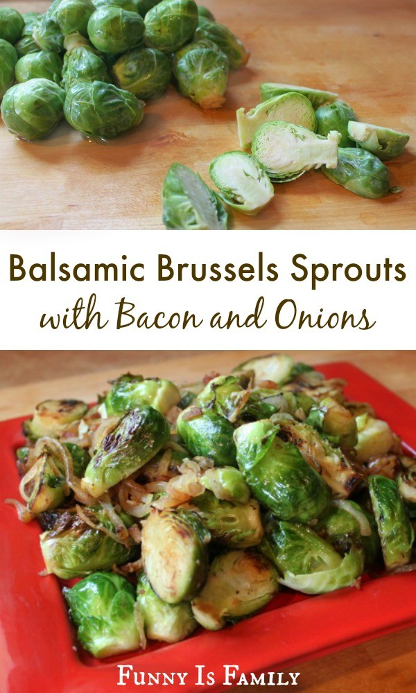 These Balsamic Brussels Sprouts with Bacon and Onion are a healthy and delicious side dish that pair well with countless dinner recipes!