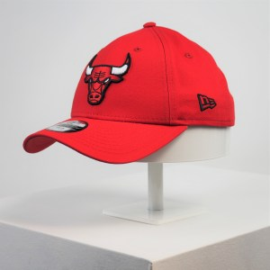 Gorra de niño New Era 9forty Youth Chicago Bulls rojo niña