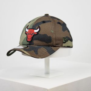 Gorra New Era 9forty Youth Chicago Bulls camuflaje niño niña