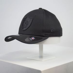 Gorra de niño New Era 9forty Youth Raiders negro niña
