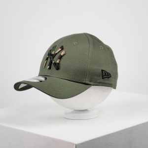Gorra de bebé New Era 9forty NY Yankees verde oliva