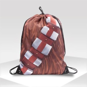 mochila chewbacca star wars gym sack bag