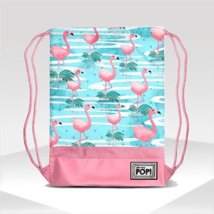 Gym sack bag Florida with Flamingos brand Oh my Pop!