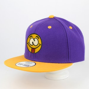Gorra Happy Face Snapback Lila Amarillo | Top Hats