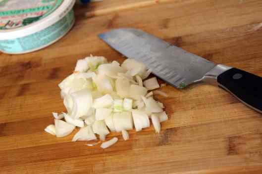 Chop up onion