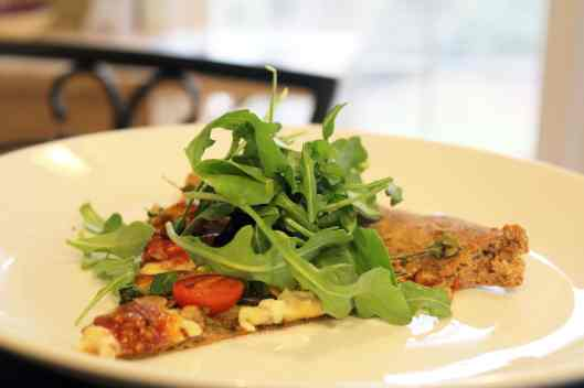 Top with fresh arugula to serve