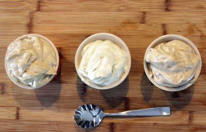 Ramekins of ice cream
