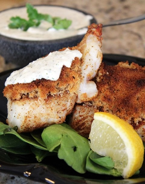 Serve fish with tartar sauce
