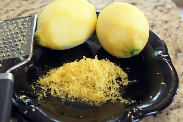 Zest two lemons