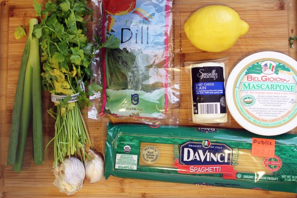 Ingredients for pasta