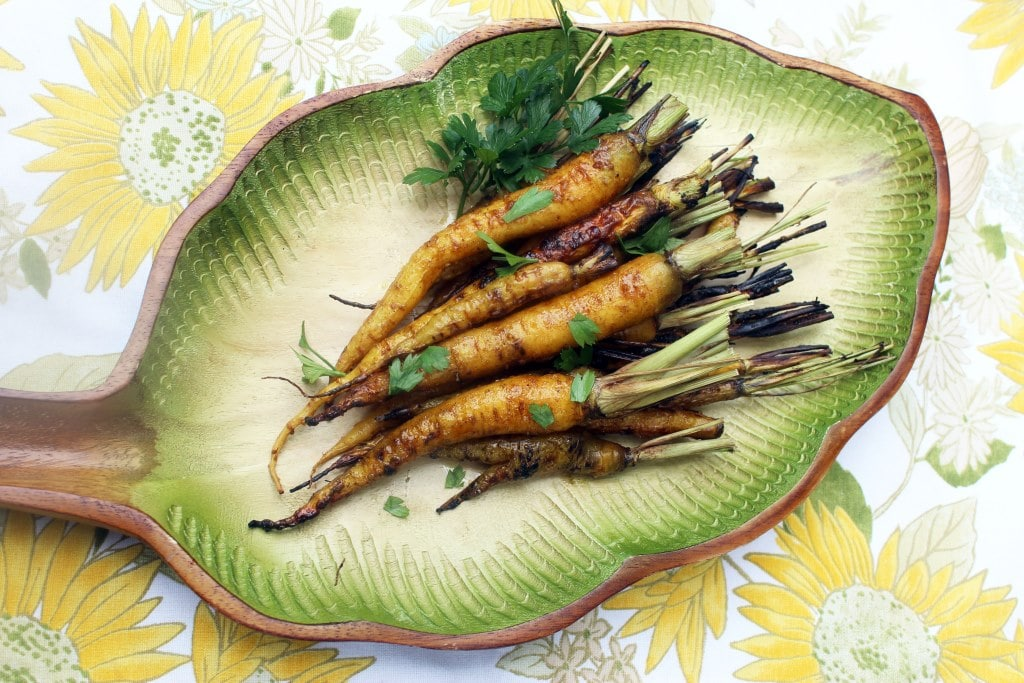 Plate of carrots