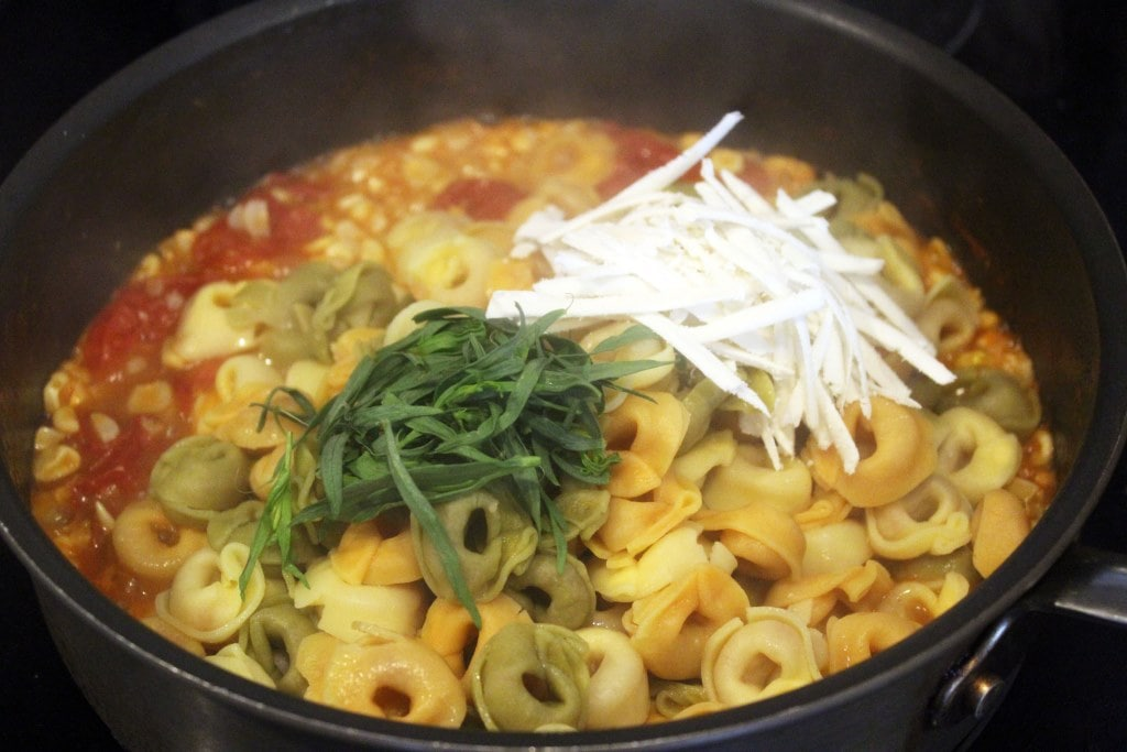 Add cheese and taragon last