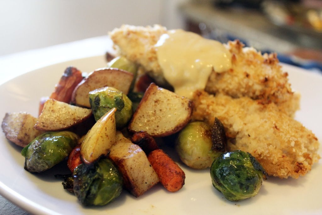 Roasted veggies with meal