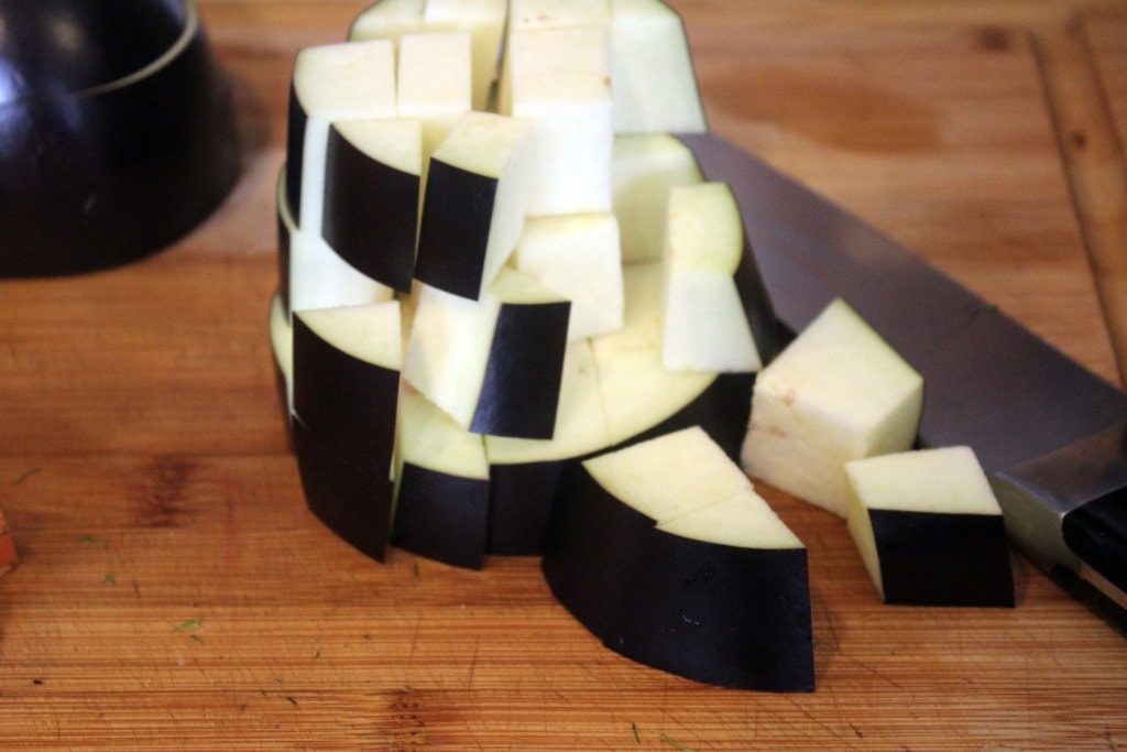 Cube eggplant