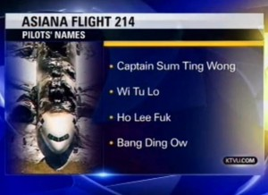 Newscaster Pranked with Fake Asian Names in Plane Crash