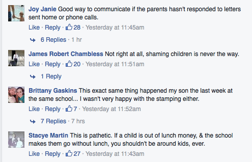 """Alabama School Gives Student """"I Need Lunch Money"""" Stamp"""