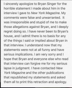 Noah Galvin Apologizes