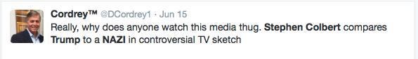 Stephen Colbert Draws Swastika When Talking Trump