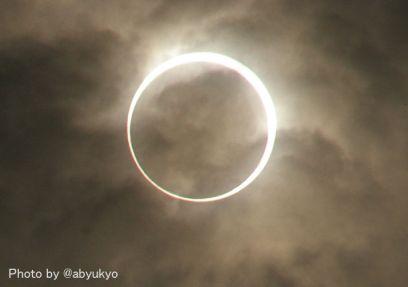 雲越しの金環日食