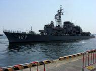 出港する護衛艦「やまゆき」1