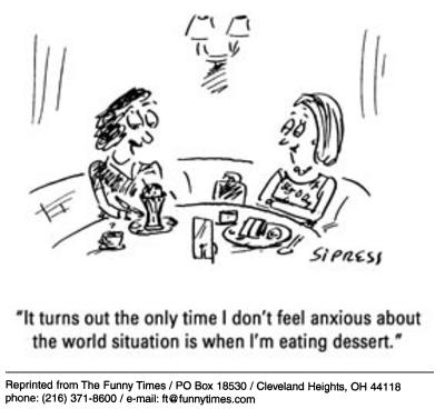 Funny food David Sipress  cartoon, September 10, 2003