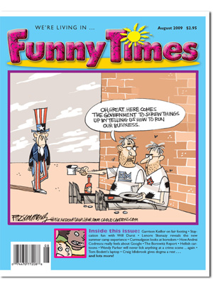 Funny Times August 2009 issue cover