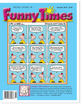 Funny Times October 2010 issue cover