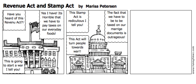 Revenue Act and Stamp Act by Marisa Petersen