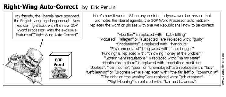 Right-Wing Auto-Correct by Eric Per1in