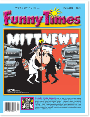 Funny Times March 2012 issue cover