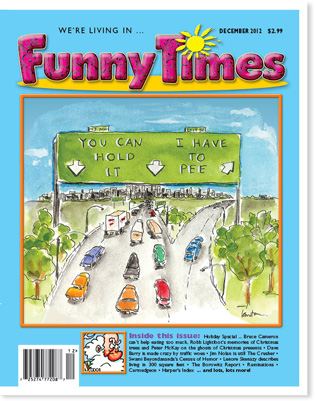 Funny Times December 2012 issue cover