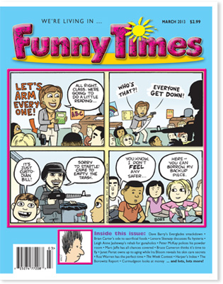 Funny Times March 2013 issue cover