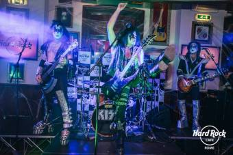 cover band kiss, hard rock cafe rome, via veneto, halloween