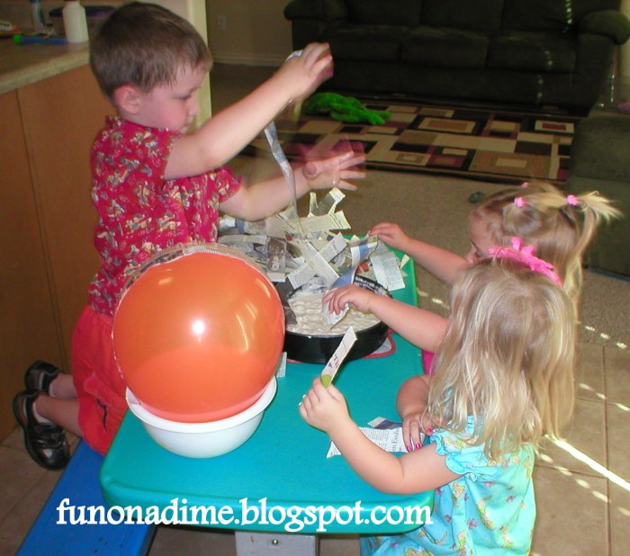 How to make a fast drying piñata