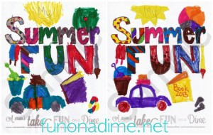Fun On a Dime and A Mom's Take Summer 2013 Coloring Contest