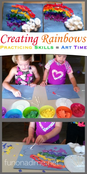 rainbow learning activities, rainbow crafts