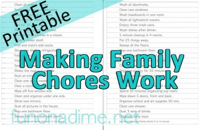 family chores - free printable, chores for kids