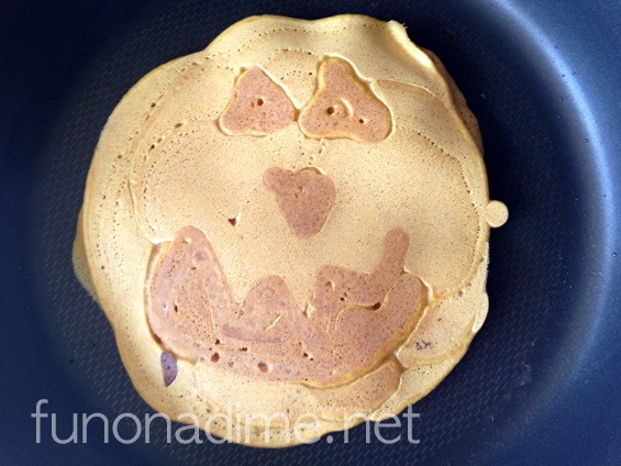 Pumpkin Faced Pancakes