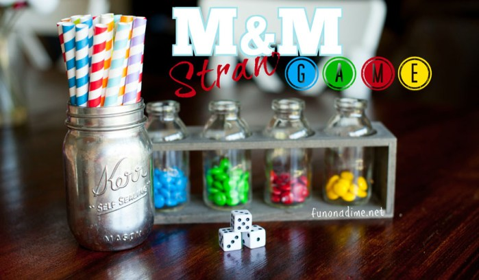 Fun M&M Straw Game