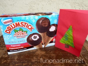 Simplifying Our Holidays: Easy Kid Made Card and Peppermint Holiday Dessert #HolidayMadeSimple #Ad