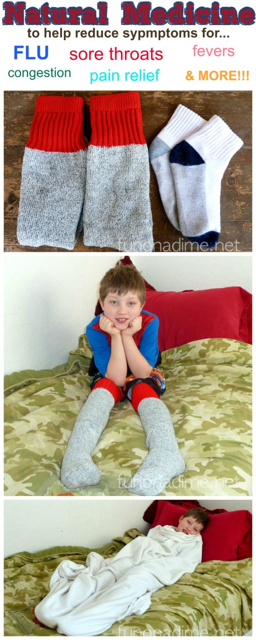 "Wet Socks - This Treatment acts to reflexively increase the circulation and decrease congestion in the upper respiratory passages, the throat and head. It has a sedating action and may help with sleep. The wet sock treatment is known in some circles as ""Children's Tylenol"" as it is effective for pain relief, relaxation, and increases the healing response during acute infections."