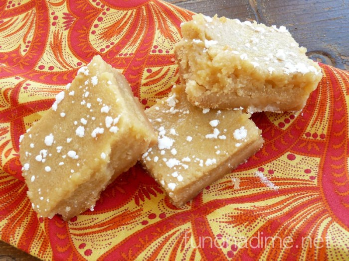 Honey Lemon Bars