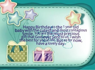 Birthday Quotes for one year old Baby