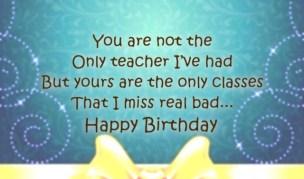 Birthday Quotes for Teacher