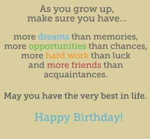 Birthday Quotes for Teenager